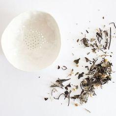 themodernexchange:  Porcelain Tea Strainer   A MANO