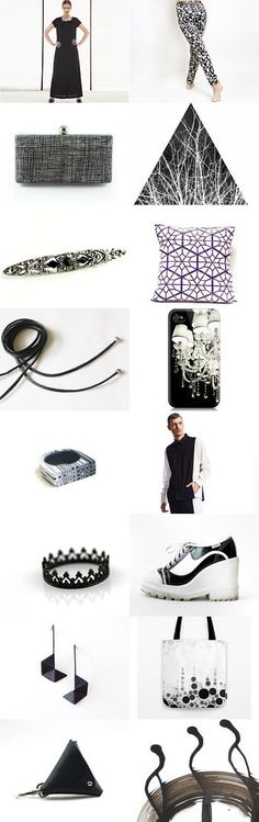 Black and white in the best edition ♥ by Kamila on Etsy--Pinned with TreasuryPin.com