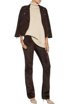 Belstaff Mayfield suede straight-leg pants. Tailoring for my inseam required, lol.