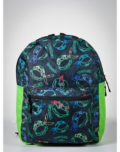 Teenage Mutant Ninja Turtles Dayglo Hooded Backpack