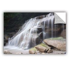 ArtWall Dan Wilson New York Rattlesnake Gulf Waterfall ArtAppealz Removable Wall Art, Size: 32 x 48, Green