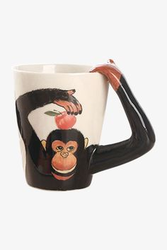 This item is shipped in 48 hours, including the weekends. This beautiful and perfect-sized mug features 3D monkey printed and high quality,would make the great gift for tea and coffee lover. Material: