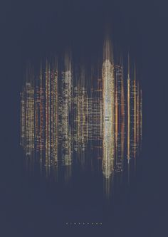 The Barcelona-based graphic design studio RETOKA introduces us with its digital project City Sound, which transcribes the nocturnal atmosphere of numerous citie Sound Map, Sound Waves, Nocturne, Music Visualization, Projection Mapping, Sound Design, Set Design, Design Ideas, Music Pics