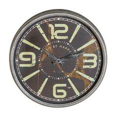 Vale, lo reconocemos... El estilo #industrial nos encanta... ¿A ti también? Mira este reloj!Mide más de medio metro de diámetro y hoy está de #oferta en hogaresconestilo.com, baja a 32,99€ #home #hogar #estilo #deco #decoración