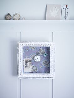 ♕ love the fresh look of this shadowbox