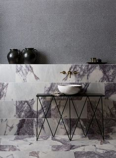 Our stunning Calacatta Viola Honed Marble tiles have a striking deep purple veining. Browse our range of Marble tiles at Mandarin Stone or visit one of our UK showrooms. Honed Marble, Marble Tiles, Bad Inspiration, Bathroom Inspiration, Mandarin Stone, Large Format Tile, Terrazzo Tile, Tiling, Bathroom Trends