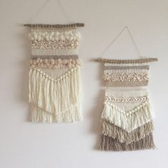 Handmade color on the wall. 【Weaving / hand-woven fabric】 is creative and new! Weaving Wall Hanging, Weaving Art, Tapestry Weaving, Loom Weaving, Hand Weaving, Wall Hangings, Macrame Design, Weaving Projects, Macrame Patterns