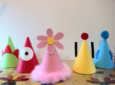 Hats! Might make these for Val's Yo Gabba Gabba birthday party next month. Too adorable.