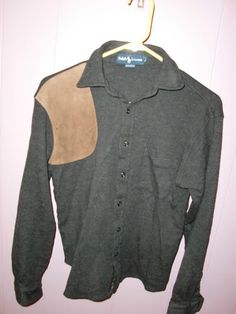 Vintage Ralph Lauren Wool Shooting Shoulder Patch Hunting Men's Shirt Small | eBay