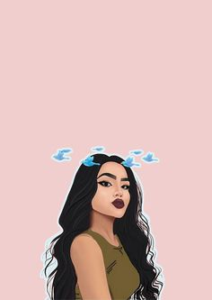 Girly Swag Cute Wallpaper For Girls Image about girl in wallpapers , lockscreens by mxdvila in<br> Bad Girl Wallpaper, Pop Art Wallpaper, Drawing Wallpaper, Cute Wallpaper Backgrounds, Cartoon Wallpaper, Cute Wallpapers, Phone Wallpapers, Black Girl Cartoon, Black Girl Art