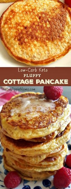 Only 4 basic Ingredients. - Keto Breakfast - Ideas of Keto Breakfast - Low-Carb Keto Fluffy Cottage Pancakes. Only 4 basic Ingredients. Ketogenic Recipes, Low Carb Recipes, Diet Recipes, Cooking Recipes, Crockpot Recipes, Chicken Recipes, Shrimp Recipes, Keto Apple Recipes, Soup Recipes