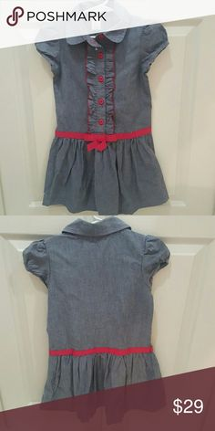 NWOT * Denim Gymboree Girl's Dress * NWOT* Denim Gymboree Girl's Dress * Tag fell off but the plastic tag attachment is still on the dress* Size 5 /5T * Adorable and multifunctional* Pair with leggings, tights, or bare legs* Love this but my daughter never got around to wearing it* Feel free to Inquire and ask Questions * Reasonable offers accepted * * * I can offer more than my stated bundle discount depending on the items * So.. Bundle & offer* Gymboree Dresses