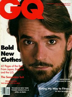 Jeremy Irons for GQ, April 1984