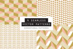 Dimentional Seamless Patterns 4 Graphics **What you get:**- A Vector EPS format file with 4 seamless patterns. - A Vector AI format file wi by Youandigraphics Photoshop, Graphic Patterns, Graphic Design, Texture Web, Shops, Design Typography, Template, Watercolor Effects, Flyer