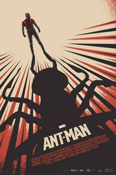 "Officially licensed Alternative Movie Poster for the 2015 Poster Posse's tribute to the Marvel film ""Ant-Man"".During Ant-Man's opening weekend, this poster will be given away FREE to anyone purchasing tickets to see the film to at selected AMC Theatr… Poster Marvel, Marvel Movie Posters, Best Movie Posters, Cinema Posters, Movie Poster Art, Cool Posters, Films Marvel, Marvel Dc Comics, Batwoman"