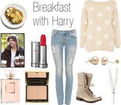 """""""Breakfast with Harry"""" by onedirectionperfectdates ❤ liked on Polyvore"""