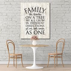 One of my new backgrounds - Family like branches on a tree, we all grow in different directions yet our roots remain as one - in ready to hang canvas