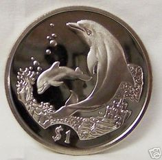 BVI Dolphin Mother And Baby With Coral 2005  Cuni Coin Unc $22.99