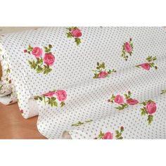 """Coupon de 10 cm """"Alishaby"""" Petites Fleurs Romantique Laize 160 (100% Coton)"""