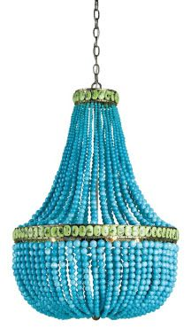 Our entry way MUST HAVE this turquoise chandelier - Maison Luxe