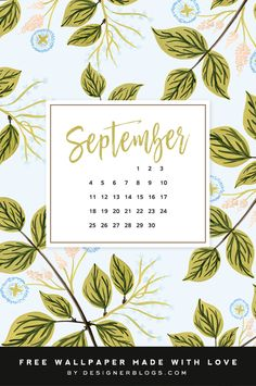 Enjoy this month's wallpaper on all of your devices! For personal use only. Credits: The Paper Home Wallpaper Backgrounds, Iphone Wallpaper, September Wallpaper, Dress Your Tech, Decoupage Printables, Calendar Wallpaper, Calendar Design, Blog Planner, Backrounds