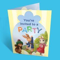Peter Rabbit Birthday Party Invitations