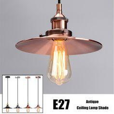 Vintage Antique Lamp Cover Ceiling Metal Edison Pendant Ceiling Light Holder Lighting Bulb Chandelier Lamp Shade Wall Light