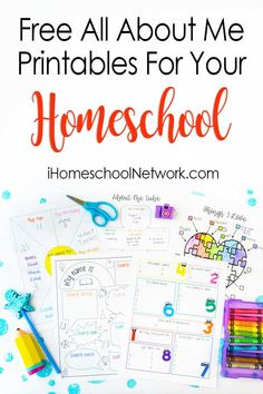 Free All About Me Printables for Back to School - iHomeschool Network All About Me Printable, All About Me Worksheet, Printable Activities For Kids, Free Printables, All About Me Book, Place Value Worksheets, Daycare Themes, All About Me Activities, Social Studies Worksheets