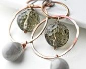 """Gorgeous! And only $35! From my #Etsy Treasury, """"Cognac and Celadon""""."""