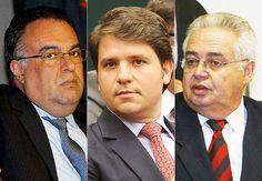 Os ex-deputados André Vargas (sem partido), Luiz Argolo (SD-BA) e Pedro Corrêa (PP-PE)