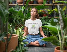 Yoga t-shirt, yogawear inhale - exhale. Unique addition to your yoga wardrobe! Designed with passion and good vibes only. Safe check-out + Satisfaction guaranteed (Order more shirts for you or as a gift to save on shipping) T Shirt Designs, Unisex, Streetwear, Cactus Shirt, Summer Dress, Aesthetic Shirts, Cabin In The Woods, Hippie Shirt, Design Floral