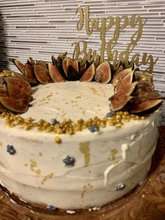 Moist tres leches #cake with figs. #birthday #celebration Tres Leches Cake, Figs, Birthday Celebration, Celebrations, Birthday Cake, Desserts, Tailgate Desserts, Birthday Cakes, Dessert