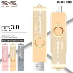 Suntrsi USB Flash Drive OTG USB 3.0 External Storage Pendrive 16GB 32GB USB Stick High Speed Pen Drive for Android USB Flash