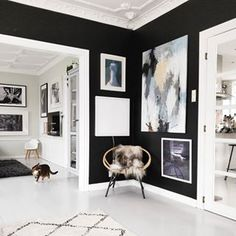 Bettina Holst Home-Studio Cottage Renovation, Home Studio, Oversized Mirror, Pergola, Gallery Wall, Photo And Video, Black And White, Frame, Inspiration