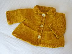 Baby + Toddler Tiered Coat and Jacket by Lisa Chemery ¬ malabrigo Worsted in Frank Ochre