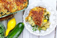 Summer squash and zucchini shine in this Healthy Summer Squash Casserole!