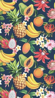 52 New Ideas for fruit wallpaper summer pattern design Iphone Wallpaper Tropical, Pineapple Wallpaper, Iphone Wallpaper Quotes Love, Pineapple Art, Iphone Wallpapers, Cute Wallpapers, Wallpaper Backgrounds, Pineapple Pattern, Trendy Wallpaper