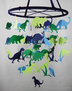 Dinosaurs Nursery Decorative Baby Mobile - Extra Large on Luulla