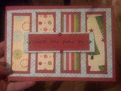 DIY christmas card. :D