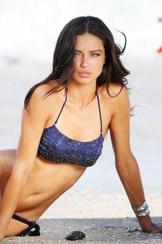 HQ Photo Gallery for Brazilian supermodel Adriana Lima. Brazilian Supermodel, Brazilian Models, Bikini Beach, Adriana Lima Bikini, Beautiful Models, Beautiful Women, Beautiful People, St Barts, Supermodels