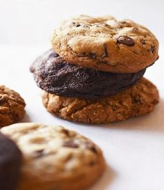 Assorted chocolate chip, oatmeal raisin, and peanut butter cookies