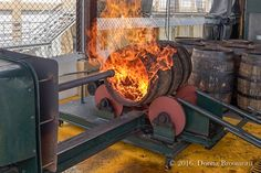Charring the barrels - Ron Barceló Rum factory, Dominican Republic All Inclusive Resorts, Dominican Republic, Barrels, Savannah Chat, Perfect Place, Rum, Alcohol, Island, Outdoor Decor