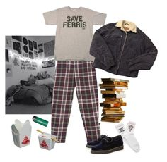 """14. Save Ferris"" by thatssokalea on Polyvore. #fashion #outfit #90sfashion #90s #grunge #tumblr"