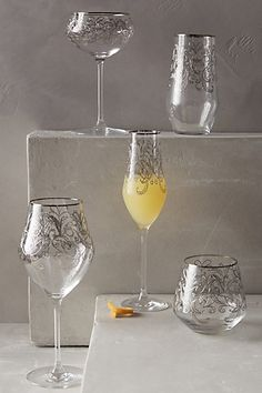 Etched fern stemware #anthrofave http://rstyle.me/n/skxa5nyg6