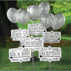 #BUY Reception Garden Signs Kit for your #wedding here: http://shop.weddingandweddingflowers.co.uk/index.php?id_product=42&controller=product