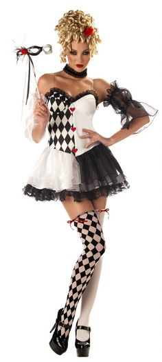 Looking for Womens Harlequin Costume - Le Belle Harlequin Party Supplies? We can connect you with le belle harlequin, sexy womens clown costume, harlequin costume, sexy clown, circus costume Costumes Sexy Halloween, Sexy Costumes For Women, Mardi Gras Costumes, Masquerade Costumes, Adult Costumes, Belle Halloween, Adult Halloween, Masquerade Ball, Women Halloween