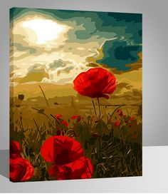 Poppy Flower Diy Paint By Numbers Kits.It is the perfect first step for beginners to enjoy the art of painting using our People paint by number collection.Paint your own wall art, even if you… Plant Painting, Diy Painting, Relaxing Art, Diy Flowers, Flower Diy, Paint By Number Kits, Abstract Drawings, Paint Set, Diy Frame