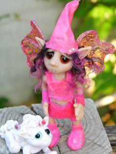 OOAK Handmade Polymer Clay Fairie Fairy by Woodlandkreatures, $45.00