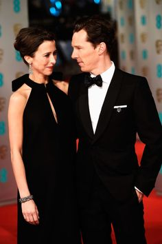 Sophie Hunter and Benedict Cumberbatch. See the 40 other cutest celebrity couple PDA moments.