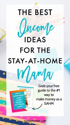 4 Profitable Income Ideas for the Stay-at-Home Mama – Looking for extra money on the side? As a stay-at-home mom there are lots of ways to make money online. Here are four profitable ways to side hustle some extra cash plus grab my FREE guide on the #1 quickest way to make money online as a SAHM.